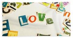 Word Of Love Hand Towel