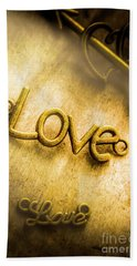 Words And Letters Of Love Bath Towel