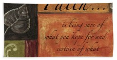 Words To Live By Faith Hand Towel