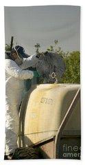 Worker Preparing Pesticide Sprayer Hand Towel
