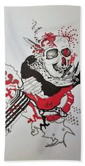 World Down-side-up Hand Towel by Kevin F Heuman
