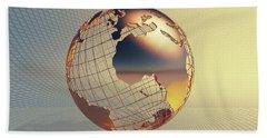 World Global Business Background Bath Towel