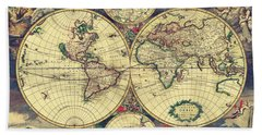 World Map 1689 Hand Towel