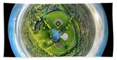World Of Baseball Hand Towel by Randy Scherkenbach
