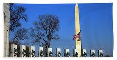 World War II Memorial And Washington Monument Hand Towel