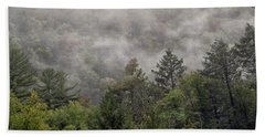 Worlds End State Park Fog Bath Towel