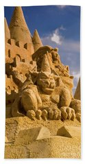 Worlds Largest Sand Castle Hand Towel