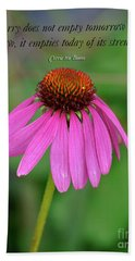 Worry Coneflower Bath Towel
