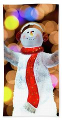 Worshiping Snowman Hand Towel