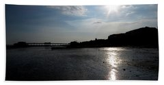 Worthing Pier Silhouette 2 Hand Towel