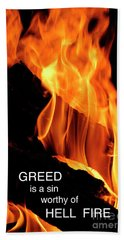 Hand Towel featuring the photograph worthy of HELL fire by Paul W Faust - Impressions of Light