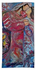 Bath Towel featuring the painting Wrapped In Your Love by Deborah Nell