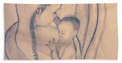Wrapped Within The Angel Wings Of Momma Hand Towel by Talisa Hartley