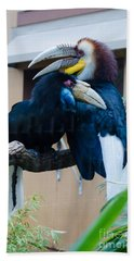 Wreathed Hornbills Bath Towel