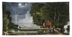 Hand Towel featuring the painting Wrekin View by Ken Wood