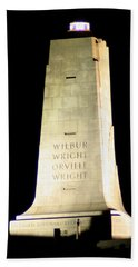Wright Brothers' Memorial Bath Towel by Karen Harrison