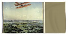 Wright Brothers - World's Greatest Aviators - Dayton, Ohio - Retro Travel Poster - Vintage Poster Hand Towel