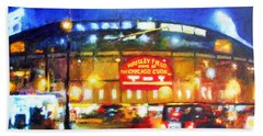Wrigley Field Home Of Chicago Cubs Hand Towel