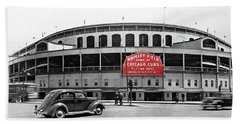 Wrigley Field - Home Of The Cubs C. 1939 Hand Towel