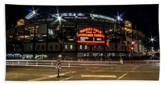 Wrigley Field Marquee At Night Hand Towel