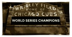 Wrigley Field Sign - Vintage Hand Towel