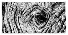 Wrinkled Eye Bath Towel by Douglas Barnard
