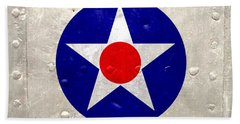 Hand Towel featuring the digital art Ww2 Army Air Corp Insignia by John Wills