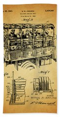 Ww2 Military Transport Vehicle Hand Towel by Dan Sproul