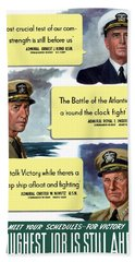 Ww2 Us Navy Admirals Bath Towel