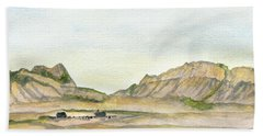 Wyoming Ranch Hand Towel by R Kyllo