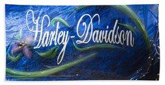 Harley Davidson 2 Hand Towel by Wendy Wilton