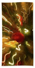Bath Towel featuring the photograph Xmas Burst 3 by Rebecca Cozart