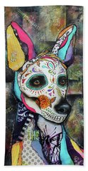 Xolo Mexican Hairless Day Of The Dead Bath Towel