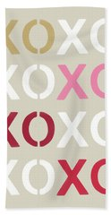 Hand Towel featuring the mixed media Xoxo- Art By Linda Woods by Linda Woods