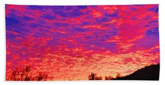 Y Cactus Sunset 1 Bath Towel