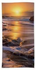 Hand Towel featuring the photograph Yachats' Sun by Darren White