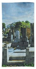 Yanaka Cemetery Bath Towel