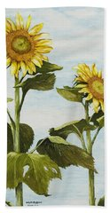 Yana's Sunflowers Hand Towel