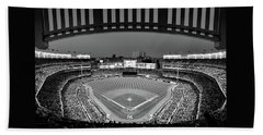 Yankee Stadium 2 - B And W Bath Towel