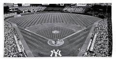 Yankee Stadium - B And W Hand Towel