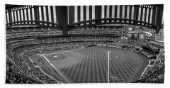 Yankee Stadium Black And White  Bath Towel