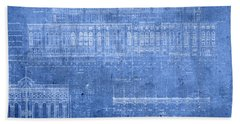 Yankee Stadium New York City Blueprints Hand Towel by Design Turnpike