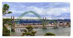 Yaquina Bay Bridge Panorama Hand Towel