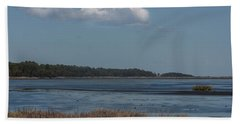 Bath Towel featuring the photograph Yawkey Wildlife Reguge - View From The Causeway by Suzanne Gaff