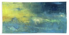 Bath Towel featuring the painting Yearning Tides by Michal Mitak Mahgerefteh