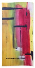 Yellow Abstract Bath Towel