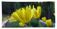 Yellow African Daisy Hand Towel