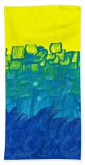 Yellow And Blue Hand Towel