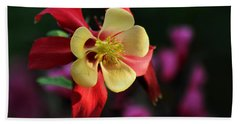 Yellow And Red Columbine Bath Towel by Kenny Glotfelty
