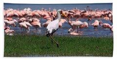Yellow Billed Stork Hand Towel